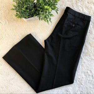 Theory black wide leg flare pants 10